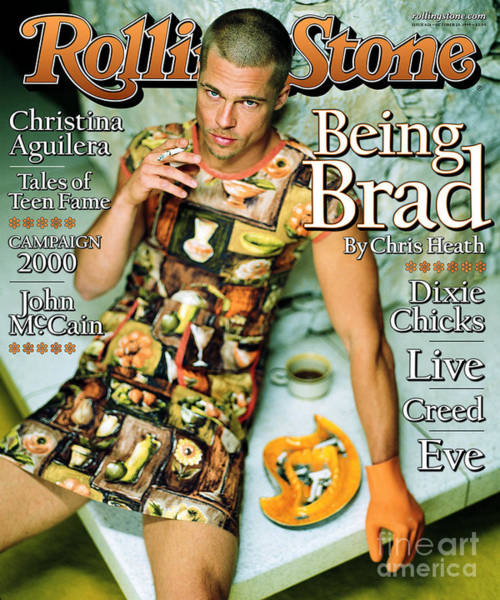 Wall Art - Photograph - Rolling Stone Cover - Volume #824 - 10/28/1999 - Brad Pitt by Mark Seliger