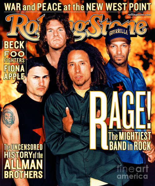 Tool Photograph - Rolling Stone Cover - Volume #826 - 11/25/1999 - Rage Against The Machine by Martin Schoeller