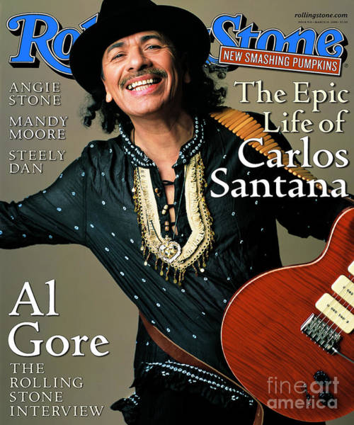 Wall Art - Photograph - Rolling Stone Cover - Volume #836 - 3/16/2000 - Carlos Santana by Mark Seliger
