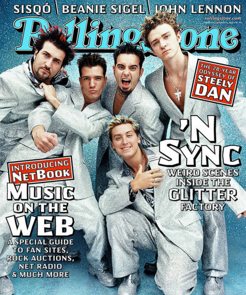 Rock N Roll Photograph - Rolling Stone Cover - Volume #837 - 3/30/2000 - 'n Sync by Stewart Shining
