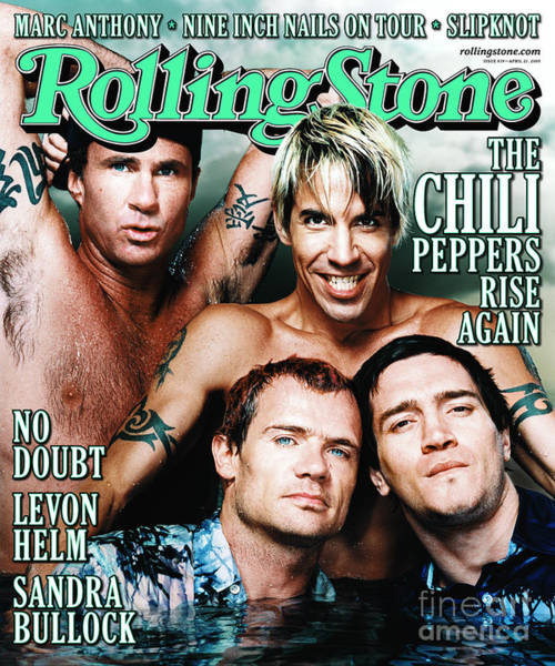 Roll Photograph - Rolling Stone Cover - Volume #839 - 4/27/2000 - Red Hot Chili Peppers  by Martin Schoeller