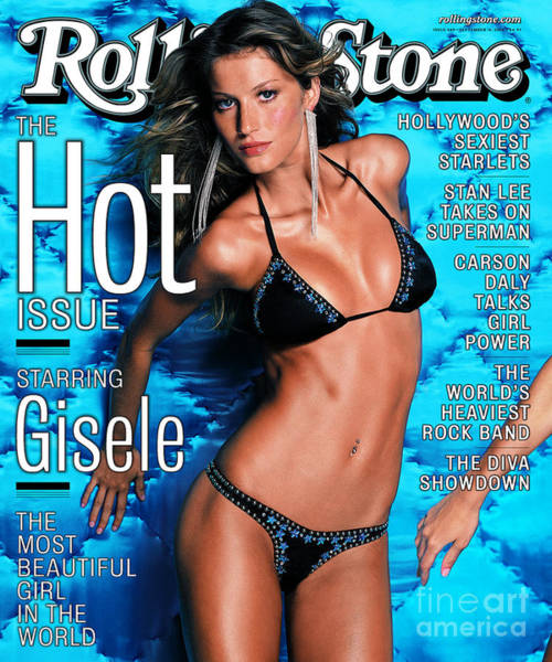 Wall Art - Photograph - Rolling Stone Cover - Volume #849 - 9/14/2000 - Gisele by Mark Seliger