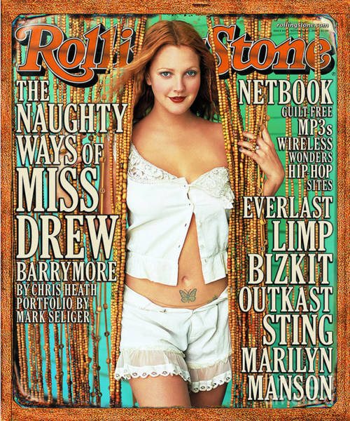 Drawn Wall Art - Photograph - Rolling Stone Cover - Volume #854 - 11/23/2000 - Drew Barrymore by Mark Seliger