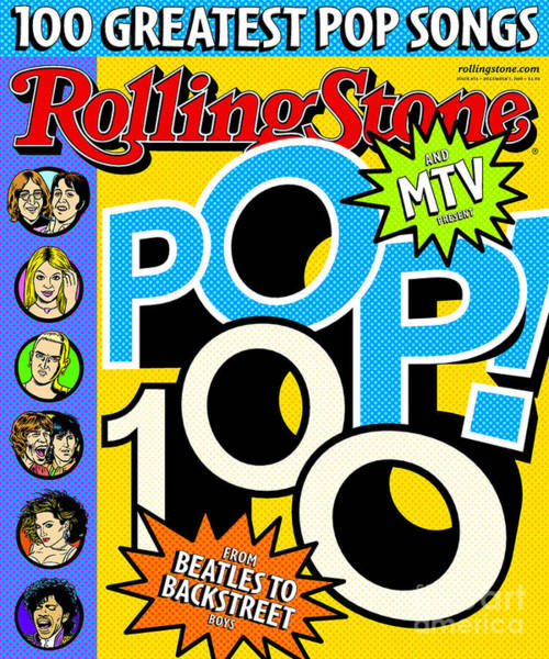 Rolling Stone Cover - Volume #855 - 12/7/2000 - Pop 100 Art Print