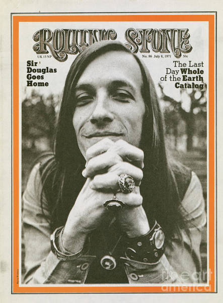 Baron Photograph - Rolling Stone Cover - Volume #86 - 7/8/1971 - Doug Sahm by Baron Wolman