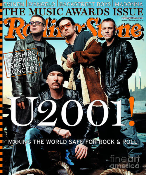 U2 Photograph - Rolling Stone Cover - Volume #860 - 1/18/2001 - U2 by Mark Seliger