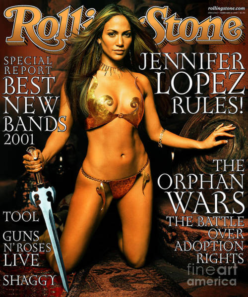 Wall Art - Photograph - Rolling Stone Cover - Volume #862 - 2/15/2001 - Jennifer Lopez by Mark Seliger