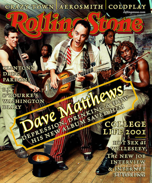Wall Art - Photograph - Rolling Stone Cover - Volume #864 - 3/15/2001 - Dave Matthews Band by Mark Seliger