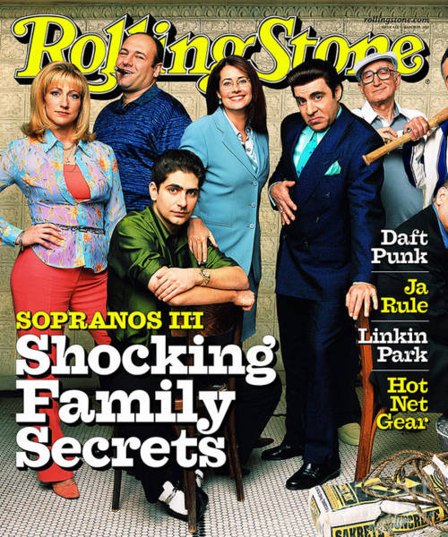 Cast Photograph - Rolling Stone Cover - Volume #865 - 3/29/2001 - Cast Of The Sopranos by Mark Seliger
