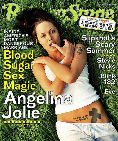 Wall Art - Photograph - Rolling Stone Cover - Volume #872 - 7/5/2001 - Angelina Jolie by David LaChapelle