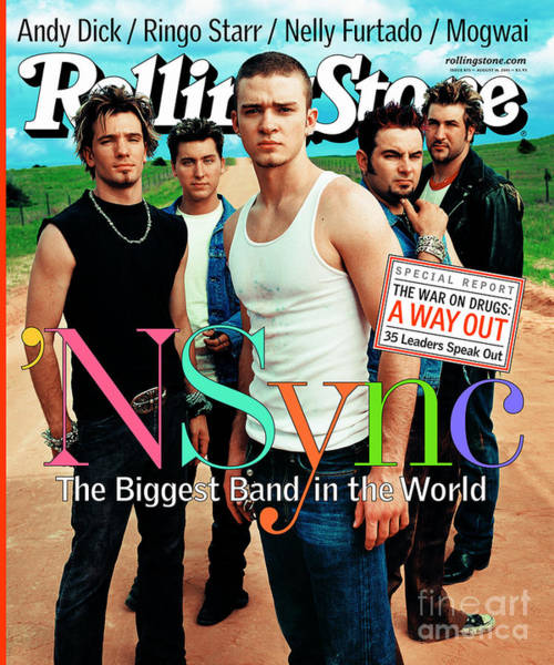 Rock N Roll Photograph - Rolling Stone Cover - Volume #875 - 8/16/2001 - 'n Sync by Mark Seliger