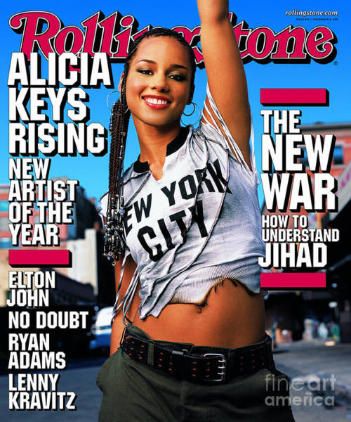 Wall Art - Photograph - Rolling Stone Cover - Volume #881 - 10/16/2001 - Alicia Keys by Mark Seliger