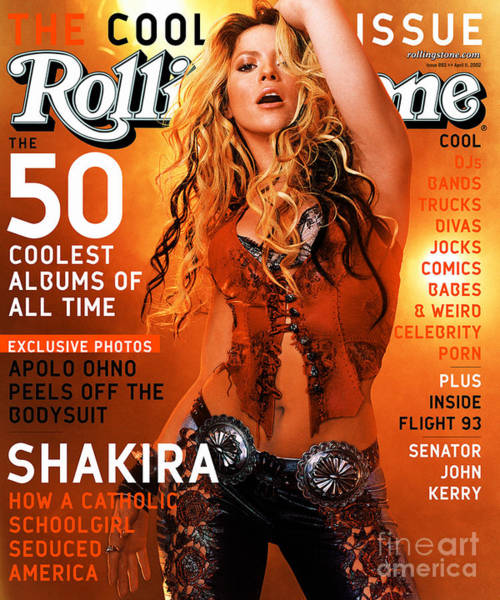 Wall Art - Photograph - Rolling Stone Cover - Volume #893 - 4/11/2002 - Shakira by Martin Schoeller