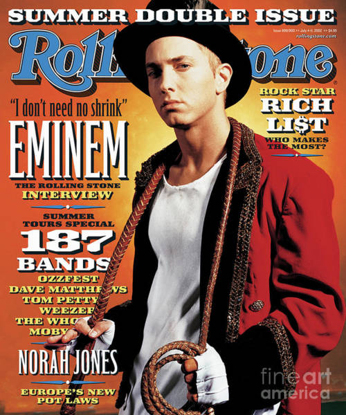 Wall Art - Photograph - Rolling Stone Cover - Volume #899 - 7/4/2002 - Eminem by Jeff Riedel