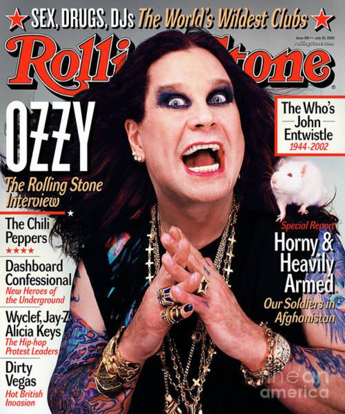 Ozzy Osbourne Wall Art - Photograph - Rolling Stone Cover - Volume #901 - 7/25/2002 - Ozzy Osbourne by Martin Schoeller