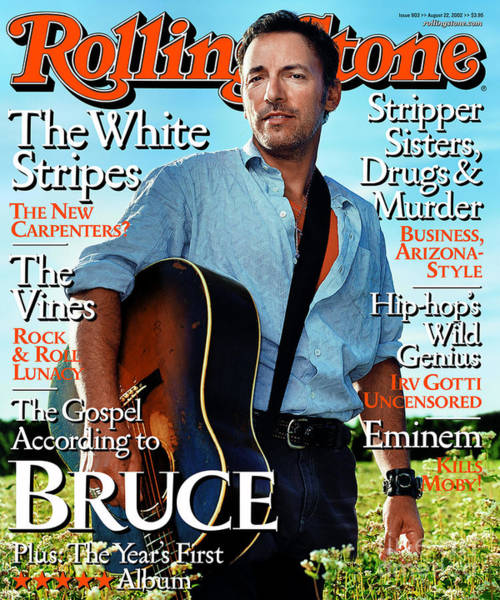 Wall Art - Photograph - Rolling Stone Cover - Volume #903 - 8/20/2002 - Bruce Springsteen by Martin Schoeller
