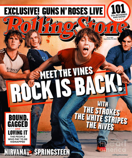 Vines Wall Art - Photograph - Rolling Stone Cover - Volume #905 - 9/19/2002 - The Vines by Martin Schoeller