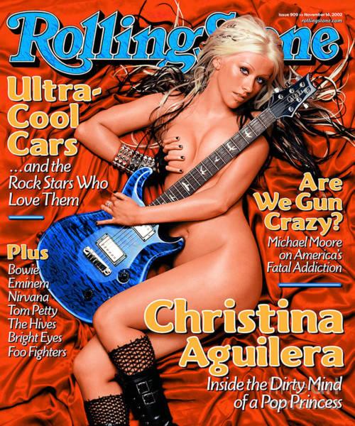 Watson Photograph - Rolling Stone Cover - Volume #909 - 11/14/2002 - Christina Aguilera by Albert Watson