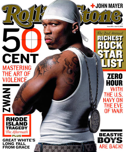 Watson Photograph - Rolling Stone Cover - Volume #919 - 4/3/2003 - 50 Cent by Albert Watson