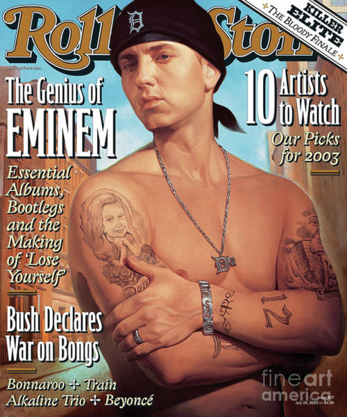 Wall Art - Photograph - Rolling Stone Cover - Volume #927 - 7/24/2003 - Eminem by Roberto Parada