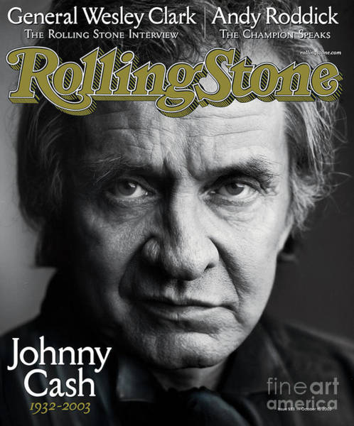 Stone Wall Art - Photograph - Rolling Stone Cover - Volume #933 - 10/16/2003 - Johnny Cash by Mark Seliger