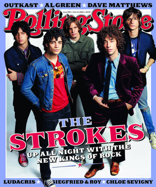 Wall Art - Photograph - Rolling Stone Cover - Volume #935 - 11/13/2003 - The Strokes by Max Vadukul