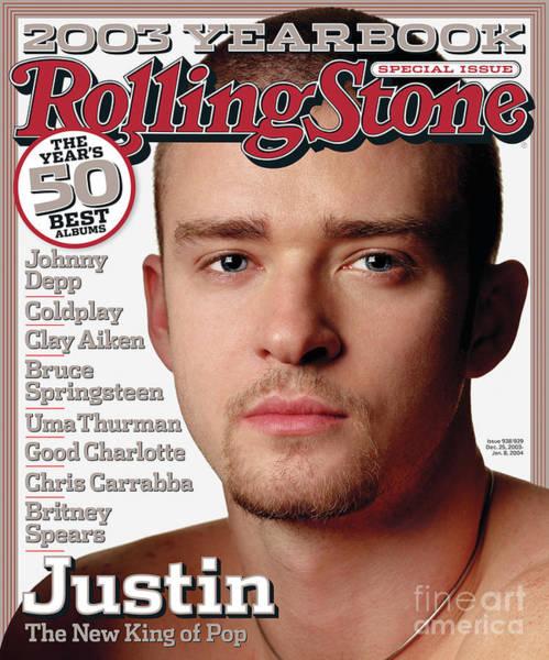 Watson Photograph - Rolling Stone Cover - Volume #938 - 12/25/2003 - Justin Timberlake by Albert Watson
