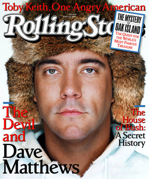 Wall Art - Photograph - Rolling Stone Cover - Volume #940 - 1/22/2004 - Dave Matthews by Martin Schoeller
