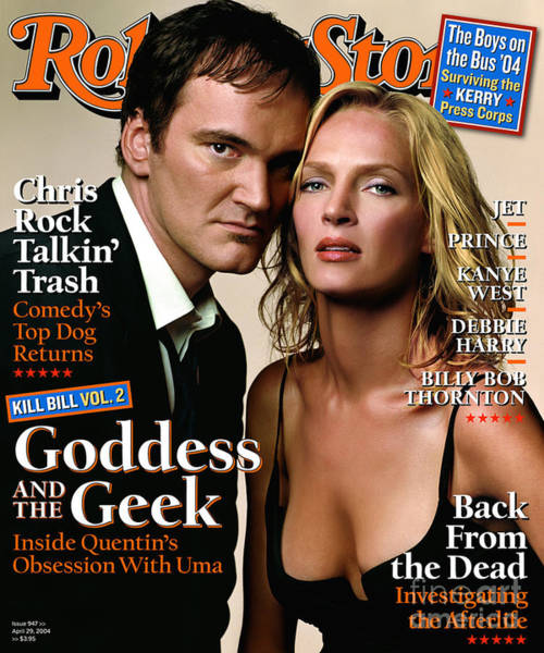 Wall Art - Photograph - Rolling Stone Cover - Volume #947 - 4/29/2004 - Quentin Tarantino And Uma Thurman by Albert Watson