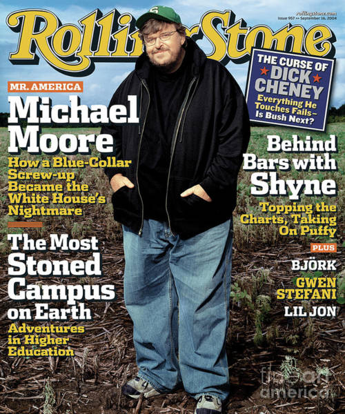 Michael Photograph - Rolling Stone Cover - Volume #957 - 9/16/2004 - Michael Moore by Albert Watson