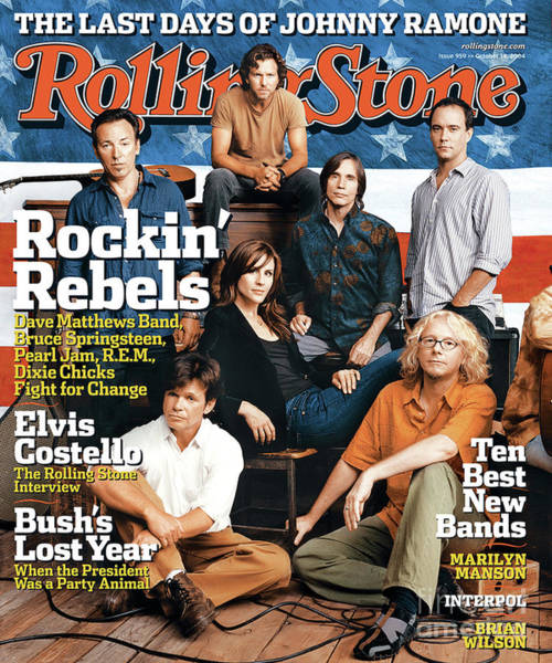 Change Photograph - Rolling Stone Cover - Volume #959 - 10/14/2004 - Voices For Change by Norman Jean Roy
