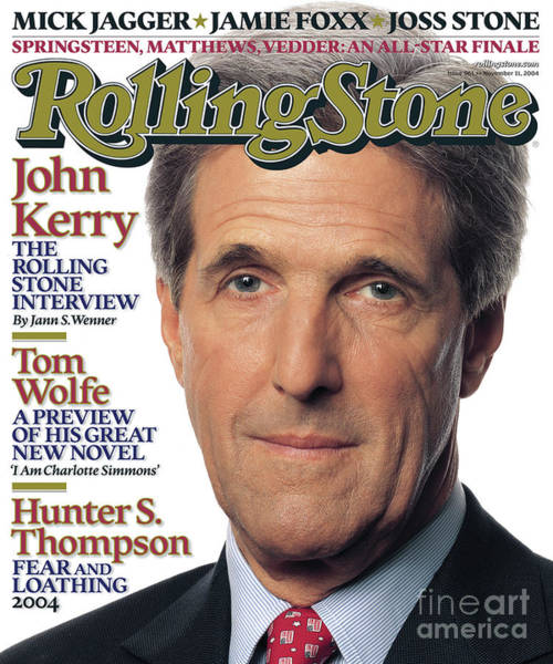 John Photograph - Rolling Stone Cover - Volume #961 - 11/11/2004 - John Kerry by Albert Watson