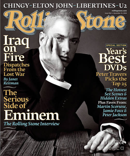 Wall Art - Photograph - Rolling Stone Cover - Volume #962 - 11/25/2004 - Eminem by Norman Jean Roy