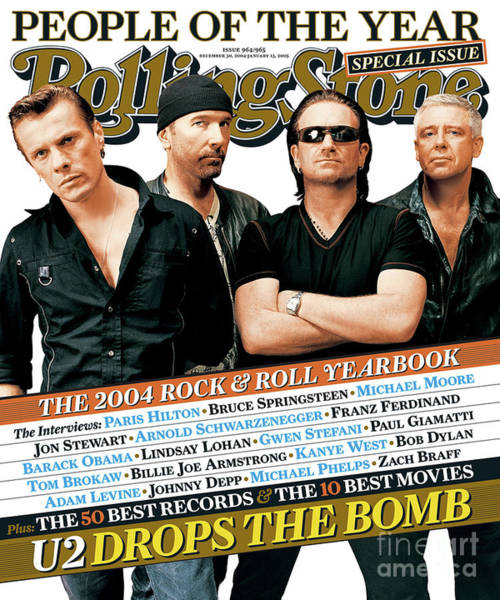 Wall Art - Photograph - Rolling Stone Cover - Volume #965 - 12/30/2004 - U2 by Ruven Afanador