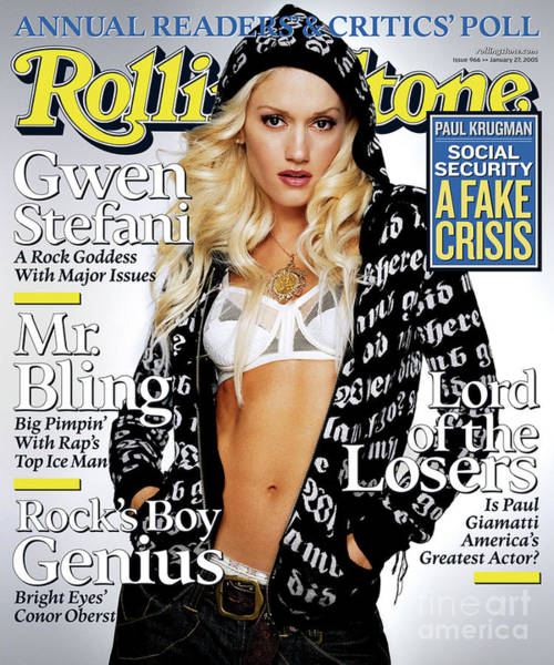 Wall Art - Photograph - Rolling Stone Cover - Volume #966 - 1/27/2005 - Gwen Stefani by Max Vadukul