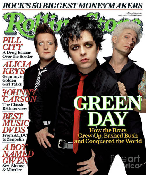Wall Art - Photograph - Rolling Stone Cover - Volume #968 - 2/24/2005 - Green Day by James Dimmock