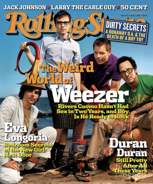 Wall Art - Photograph - Rolling Stone Cover - Volume #973 - 5/5/2005 - Weezer by Martin Schoeller