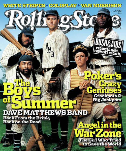 Roll Photograph - Rolling Stone Cover - Volume #976 - 6/16/2005 - Dave Matthews Band by Martin Schoeller