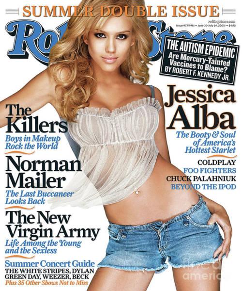 Jessica Alba Photograph - Rolling Stone Cover - Volume #977 - 6/30/2005 - Jessica Alba by Matthew Rolston