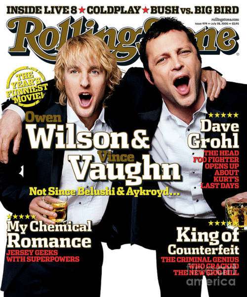 Roll Photograph - Rolling Stone Cover - Volume #979 - 7/28/2005 - Owen Wilson And Vince Vaughn by Max Vadukul