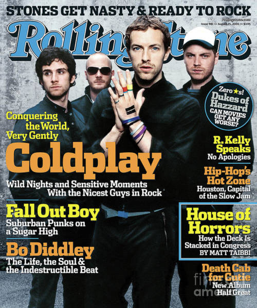 Wall Art - Photograph - Rolling Stone Cover - Volume #981 - 8/25/2005 - Coldplay by Anton Corbijn