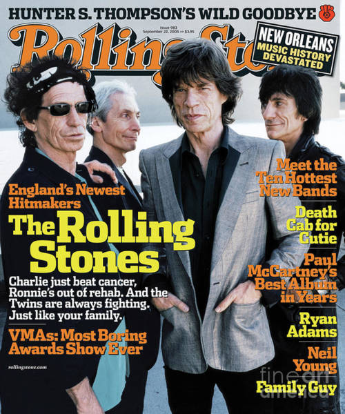 Wall Art - Photograph - Rolling Stone Cover - Volume #983 - 9/22/2005 - Rolling Stones by Anton Corbijn