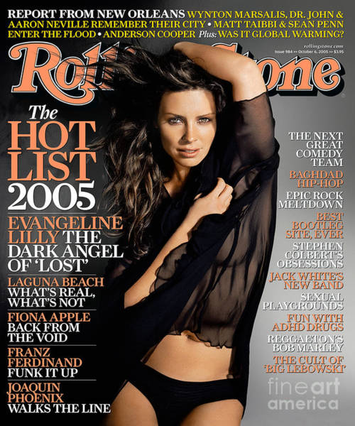 Lilly Photograph - Rolling Stone Cover - Volume #984 - 10/6/2005 - Evangeline Lilly by Tony Duran