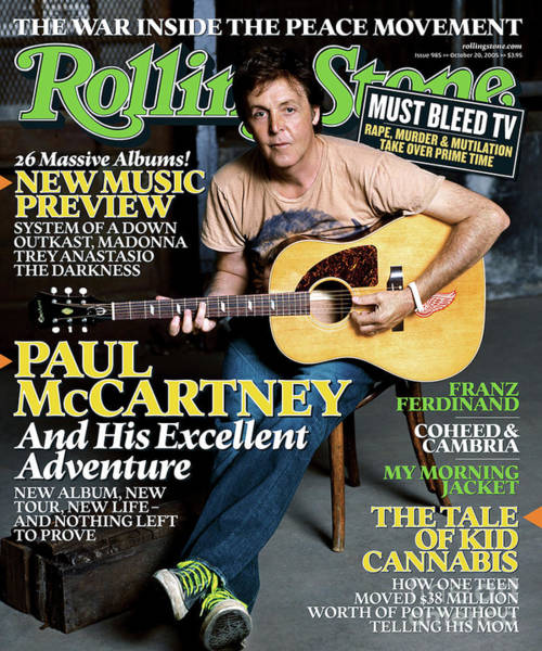 Pauls Photograph - Rolling Stone Cover - Volume #985 - 10/20/2005 - Paul Mccartney by Max Vadukul