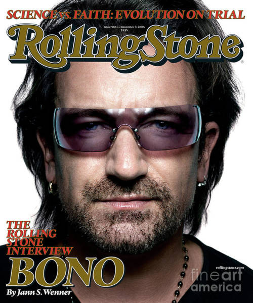 Wall Art - Photograph - Rolling Stone Cover - Volume #986 - 11/3/2005 - Bono by Platon