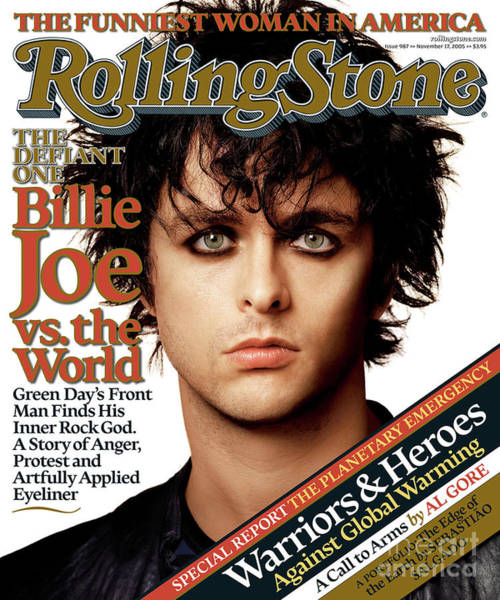 Wall Art - Photograph - Rolling Stone Cover - Volume #987 - 11/17/2005 - Billie Joe Armstrong by Albert Watson