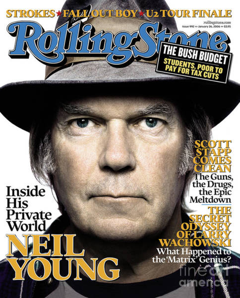 Neil Young Photograph - Rolling Stone Cover - Volume #992 - 1/26/2006 - Neil Young by Platon