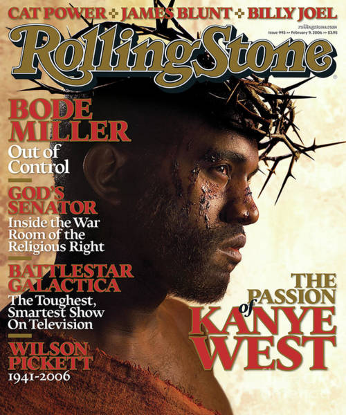 Roll Photograph - Rolling Stone Cover - Volume #993 - 2/9/2006 - Kanye West by David LaChapelle