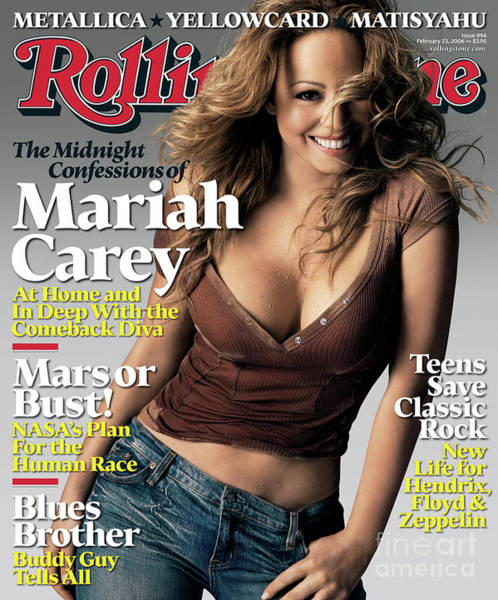 Mariah Carey Photograph - Rolling Stone Cover - Volume #994 - 2/23/2006 - Mariah Carey by Brigette Lacombe