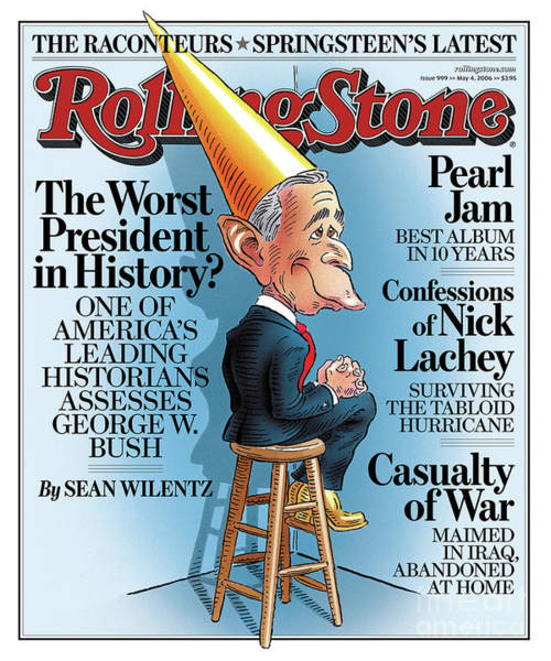 W Photograph - Rolling Stone Cover - Volume #999 - 5/4/2006 - George W. Bush by Robert Grossman